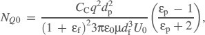 Equation of the parameter NQ0 for a line-dipole charged fiber