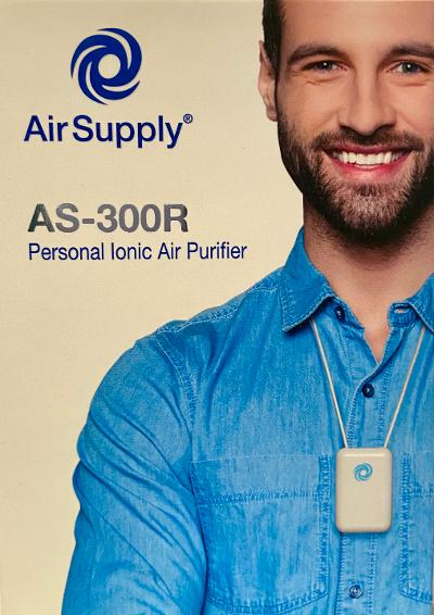 Air Supply® Rechargeable AS-300R Wearable Ionic Air Purifier
