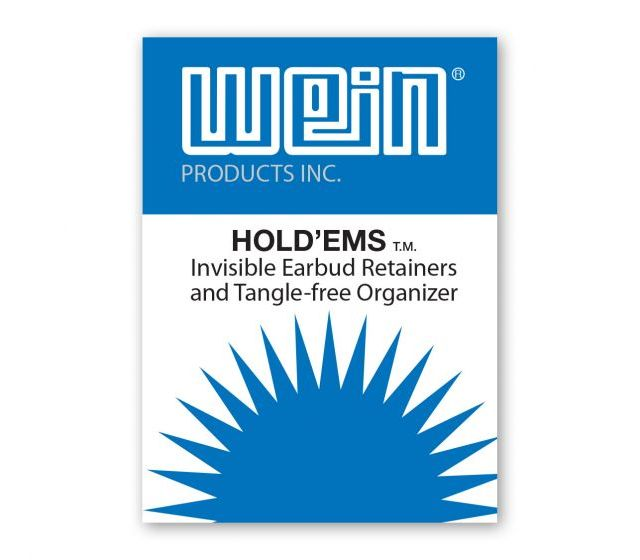 Hold'Ems™ Invisible Earbud Retainers and Tangle-free Organizer